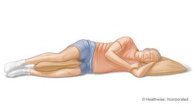 Tidur menyamping adalah posisi tepat kedua setelah tidur telentang saat tidur