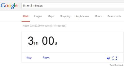Google menyediakan fitur timer dan alarm dalam pencariannya