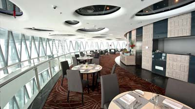 Twist Mediterranean Buffet adalah restoran berputar di Canton Tower dan merupakan yang tertinggi untuk jenisnya