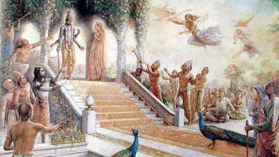 Valkuntha adalah gambaran surga dalam agama hindu dimana Dewa Agung Wisnu berdiam