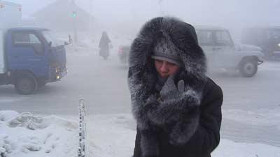 yakutsk di Rusia adalah salah satu tempat terdingin di dunia dengan kabut di kota
