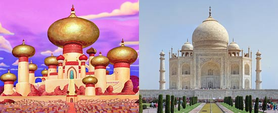 Film klasik Disney Aladdin terinspirasi dari lokasi nyata dunia Taj Mahal di india
