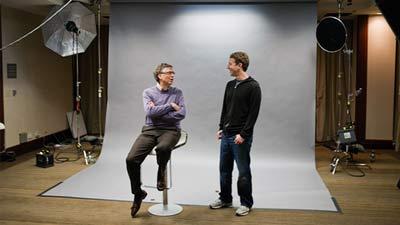 Bill Gates bertemu dengan Mark Zuckerberg