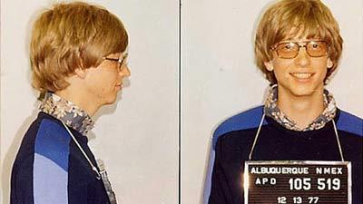 Bill Gates saat umur 22 tahun ditangkap di New Mexico