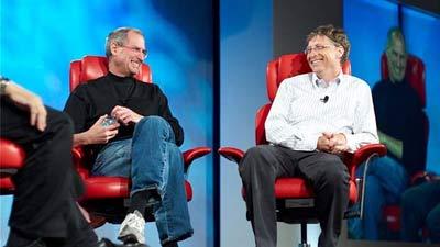 Bill Gates bertemu dengan Steve Jobs