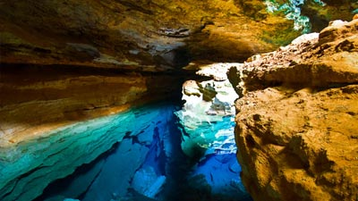 Chapad Diamantina atau Blue Well di Brazil