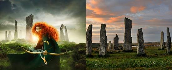 Batu Callanish di Skotlandia adalah inpirasi lokasi nyata film Brave