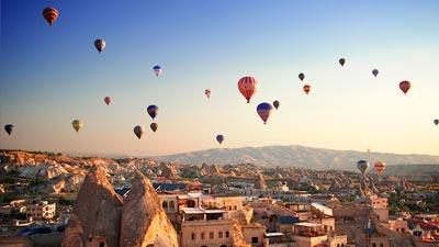 Balon air udara di Cappadocia Turki