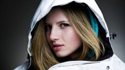 Snowboarder cantik Clair Bidez