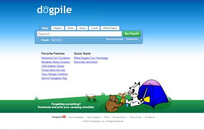 Dogpile.com adalah salah satu mesin pencari paling popular di Internet