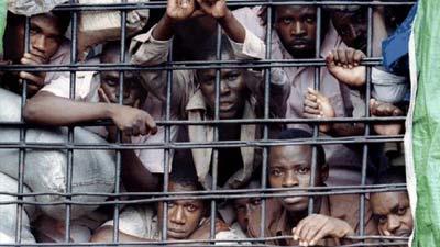 Penuhnya sel di Penjara Giratama Central, Rwanda