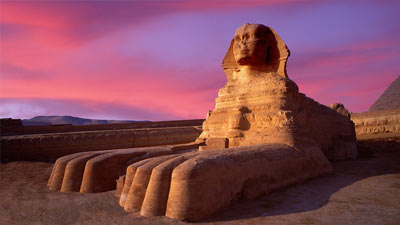 Patung Great Sphinx of Giza di Mesir