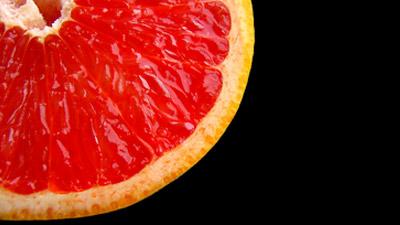 Buah grapefruit tampak dekat