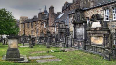 Kuburan Greyfriars Kirk di Edinburgh Skotlandia