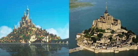 Itana Kerajaan Tangled terinspirasi dari Mont Saint-Michel di Paris