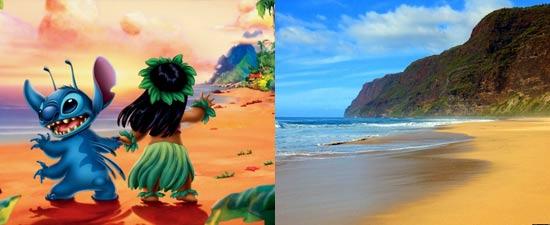 Lilo dan stitch terinspirasi dari lokasi nyata dunia tepatnya Kauai Hawaii