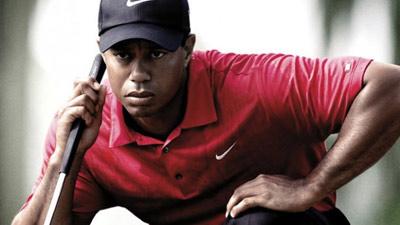 Bayangan oleh seorang atlit golf