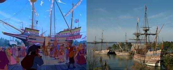 Pocahontas film Disney pada aslinya berlokasikan di Jamestown Virginia