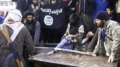 Tangan pencuri yang sedang akan dipotong di Syria