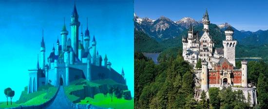 Lokasi nyata istana putri tidur adalah istana Neuschwanstein di Jerman
