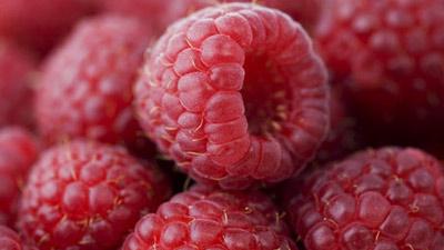 Buah raspberry tampak dekat
