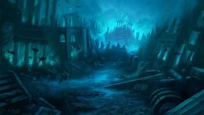 kota hilang Atlantis di kedalaman laut