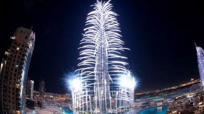 Tahun baru di Burj Khalifa Dubai UAE