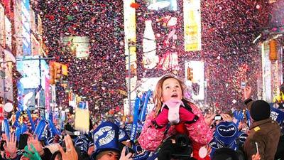 Tahun baru di new york times square