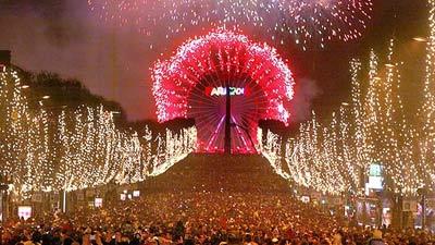 Tahun baru di Paris Champs Elysees