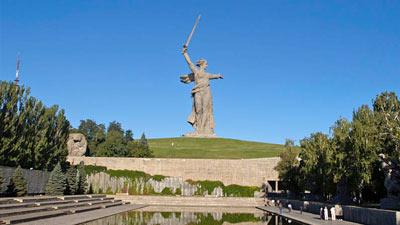 Patung ikonik Rusia The Motherland Calls