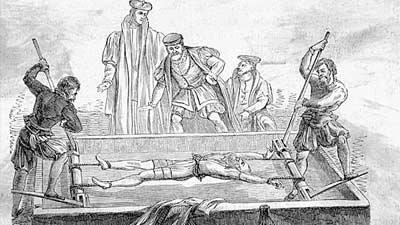 The rack adalah alat penyiksaan yang sangat kejam bahkan mungkin paling kejam di antara alat-alat lainnya