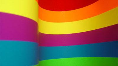 warna seperti pelangi melengkung
