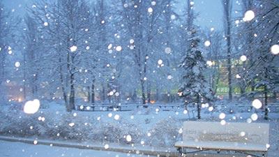 turun salju