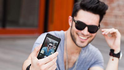 pamer selfie