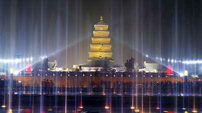 Big Wild Goose Pagoda Fountains