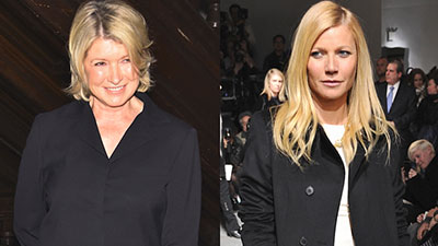 Gwyneth Paltrow and Martha Stewart