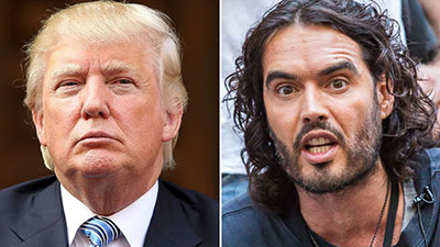 Russell Brand and Donald Trump