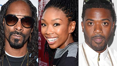 Brandy, Ray J and Snoop Dogg