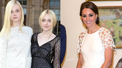 Kate Middleton, Dakota Fanning, Elle Fanning