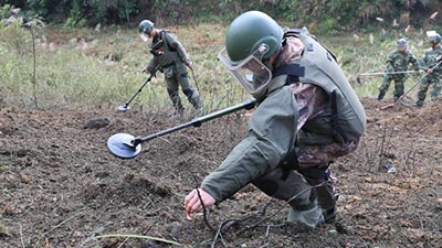 land miner remover