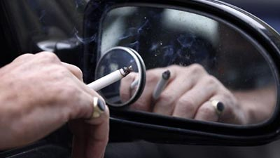 smoking while driving