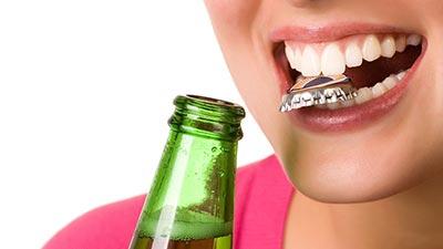 using teeth