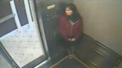 Elisa Lam inside elevator