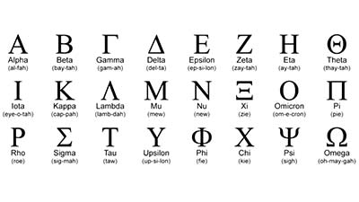 Greek Language Alphabet
