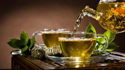 minuman teh hijau