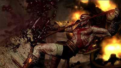 God of war yang menggambarkan kebrutalan